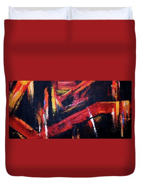 Lines Of Fire Duvet Cover