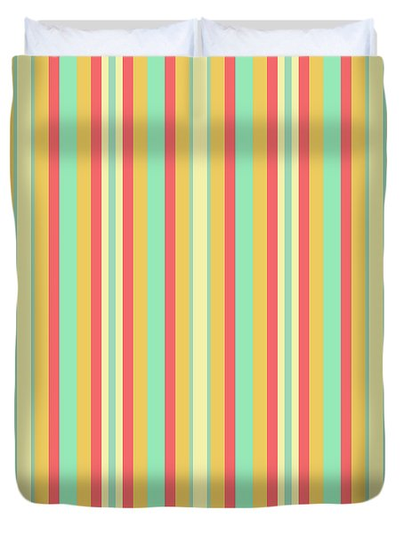 Lines Or Stripes Vintage Or Retro Color Background - Dde589 Duvet Cover