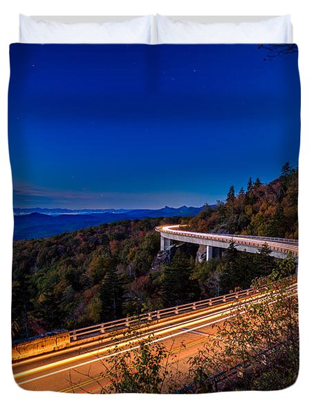 Linn Cove Viaduct - Blue Ridge Parkway Duvet Cover