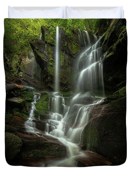 Linville Gorge - Waterfall Duvet Cover