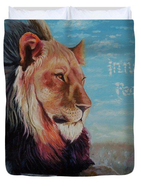Lion - Inner Peace Duvet Cover