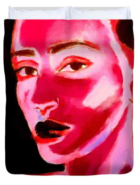 Lips Of Silence Duvet Cover
