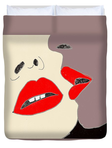 Lips Duvet Cover