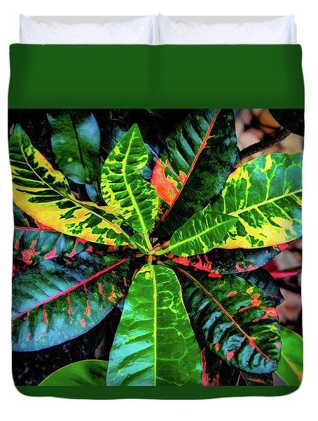 Liquid Tropical Colors Duvet Cover