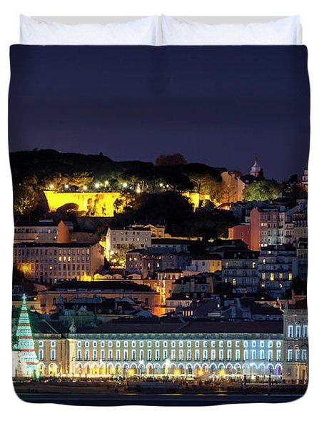 Lisbon In Christmas Time Duvet Cover