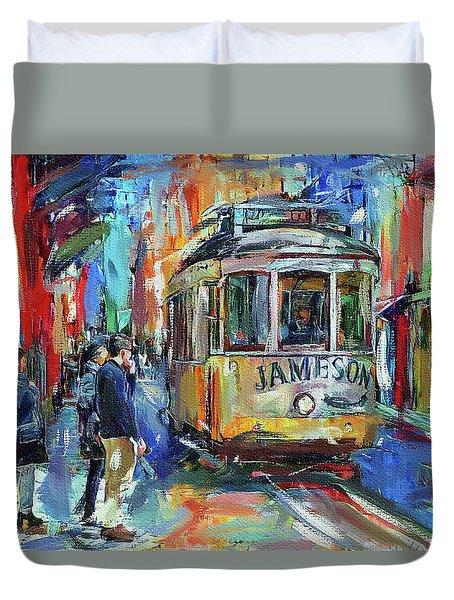 Lisbon Tram 5 Duvet Cover