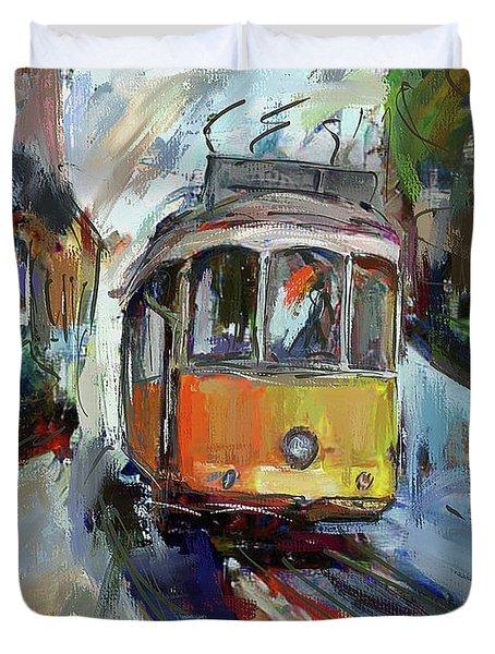 Lisbon Tram 7 Duvet Cover