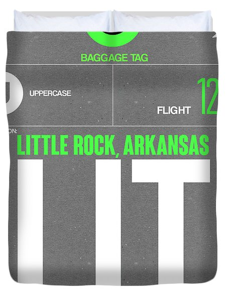 Lit Little Rock Luggage Tag II Duvet Cover