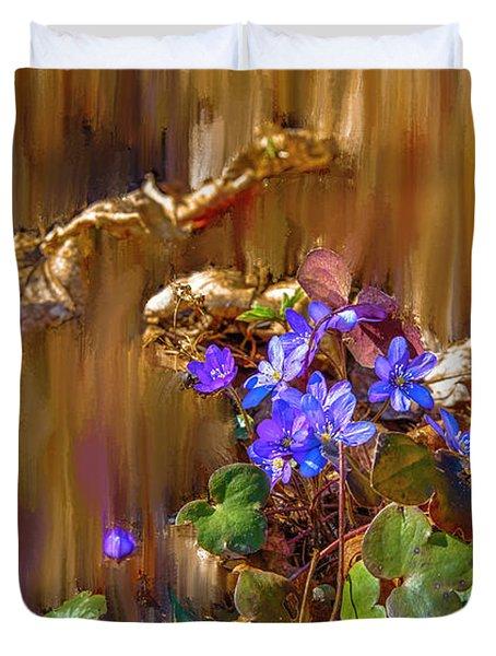 Little Blue #i6 Duvet Cover