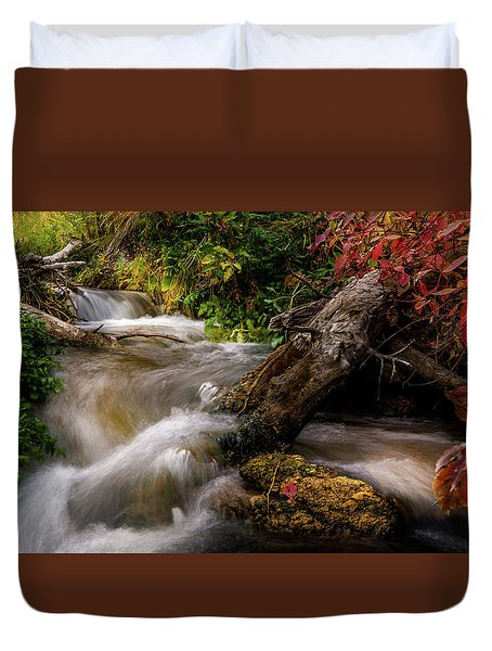 Little Deer Creek Autumn Duvet Cover