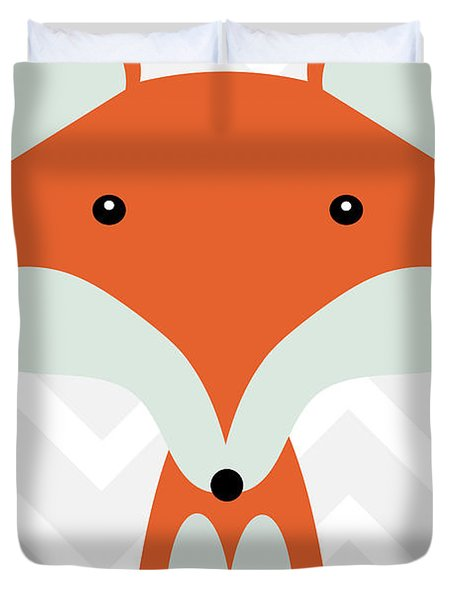 Little Fox Nursery Art Duvet Cover