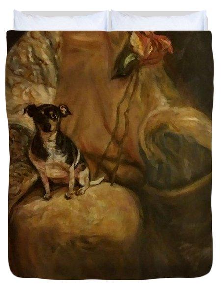 Little Miss Margo Duvet Cover