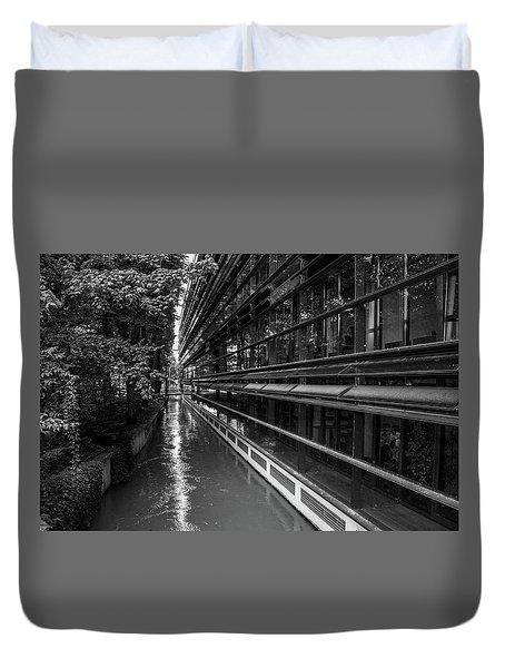 Little River, Big Building Duvet Cover