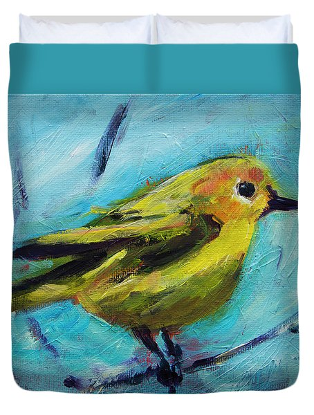 Little Yellow Bird Duvet Cover