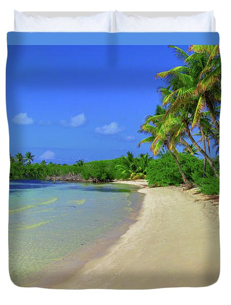 Living On An Island Duvet Cover