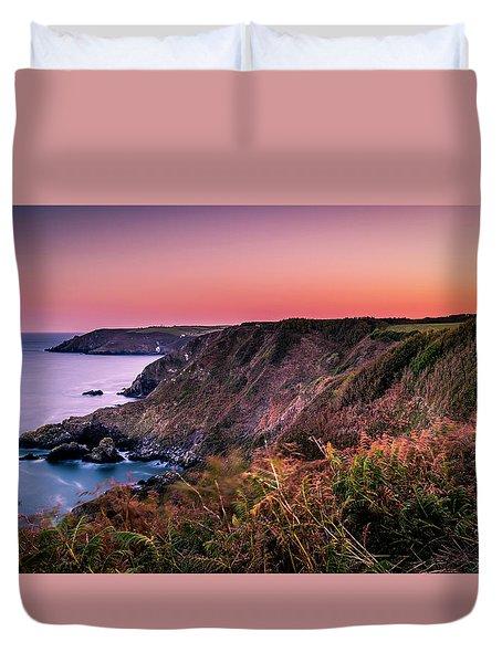 Lizard Point Sunset - Cornwall Duvet Cover