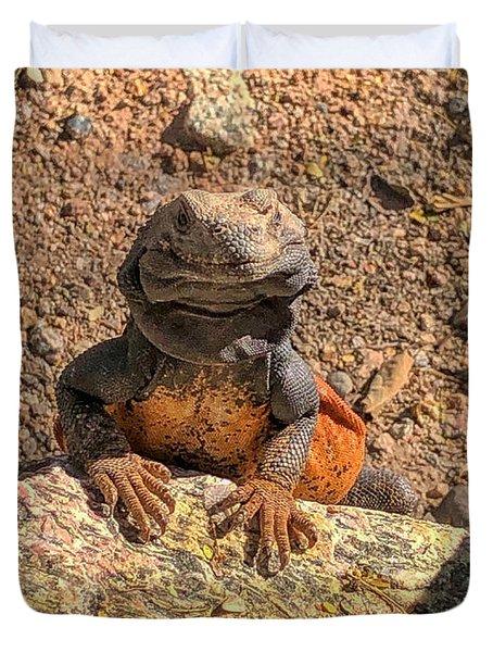 Lizard Portrait  Duvet Cover
