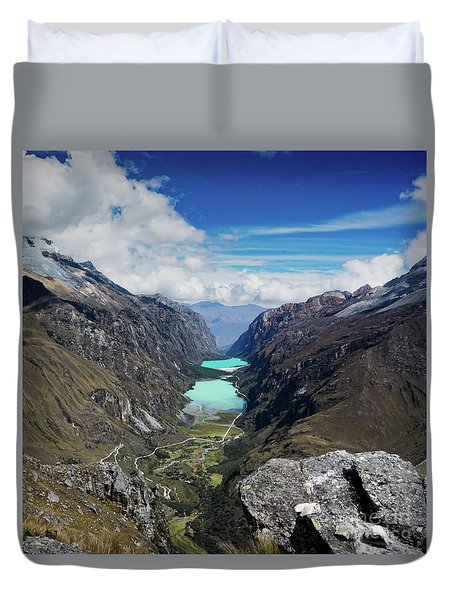 Llanganuco Valley Duvet Cover