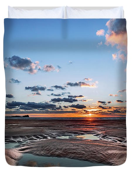 Llangennith Beach Duvet Cover