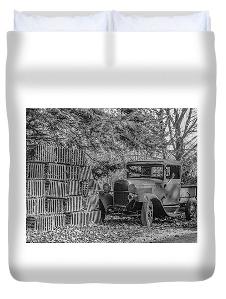 Lobster Pots And Truck Duvet Cover