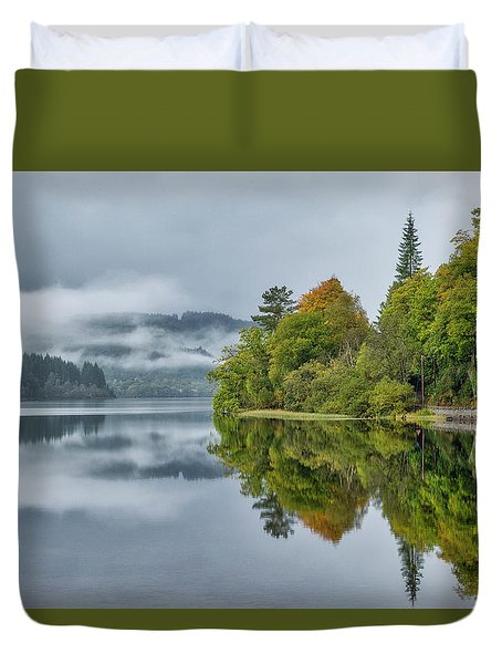 Loch Ard In Scotland Duvet Cover