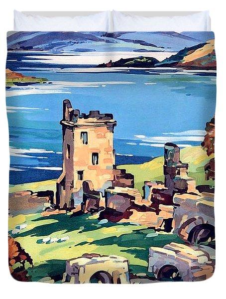 Loch Ness Lake Duvet Cover