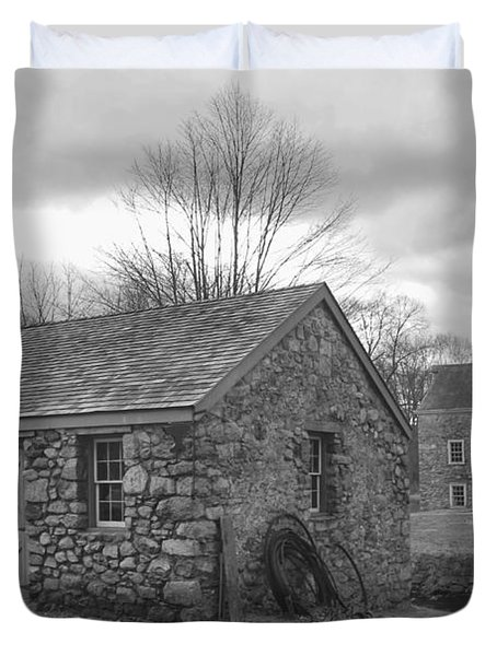 Lock House And Store - Waterloo Village Duvet Cover