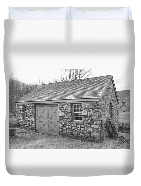 Lock House, Detail - Waterloo Village Duvet Cover