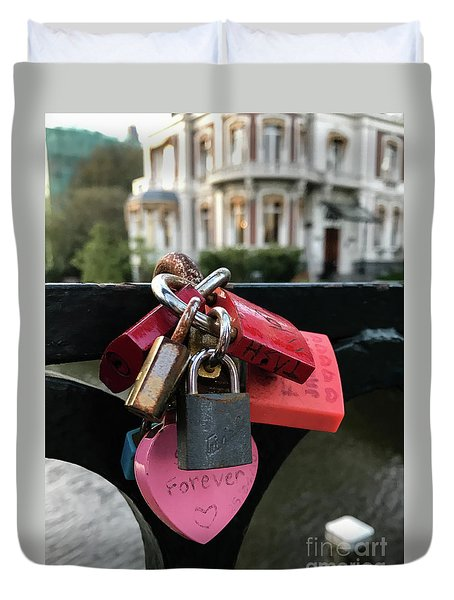 Lock Up Your Love Duvet Cover