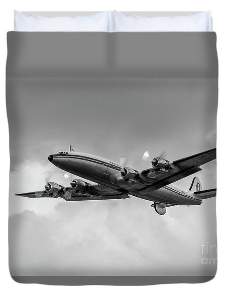 Lockheed Breitling Super Constellation  Duvet Cover