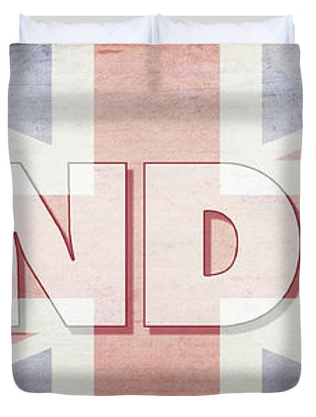 London Faded Flag Design Duvet Cover