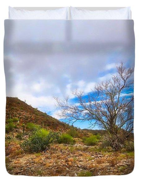 Lone Palo Verde Duvet Cover