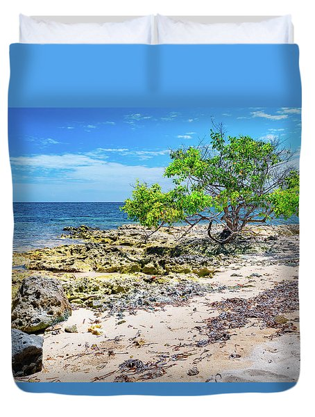 Lone Shore Tree Duvet Cover