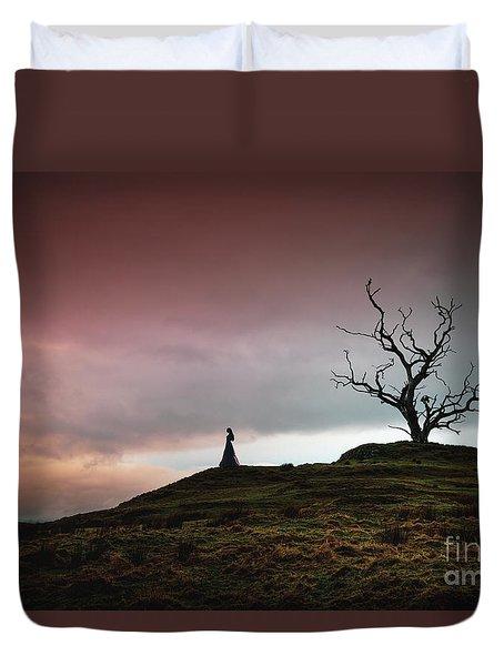 Lonesome Sundown Duvet Cover