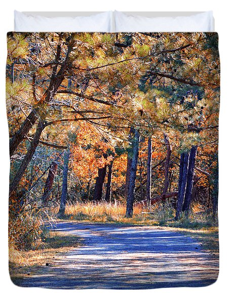 Duvet Cover featuring the photograph Long And Winding Road At Gordon's Pond by Bill Swartwout Fine Art Photography