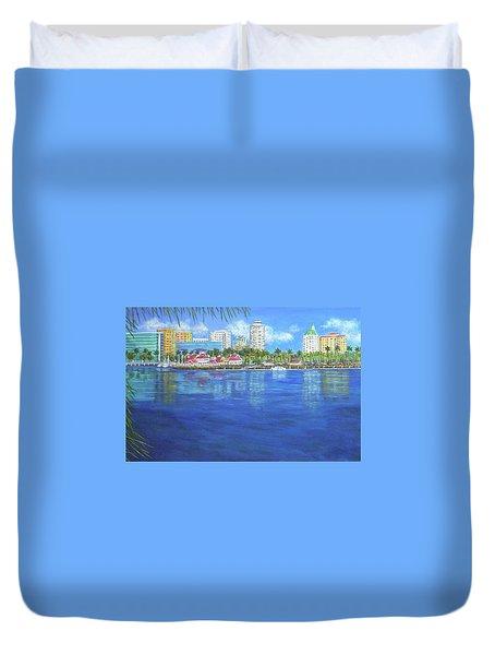Long Beach Shoreline Duvet Cover