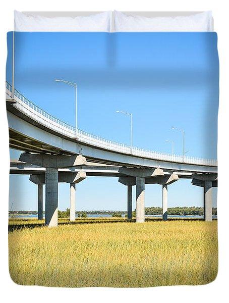Long Concrete Bridge  Duvet Cover