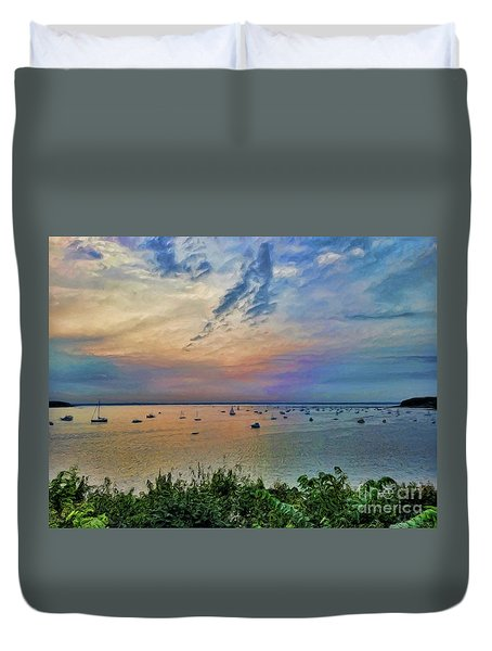 Long Island Sound From Glen Cove Duvet Cover