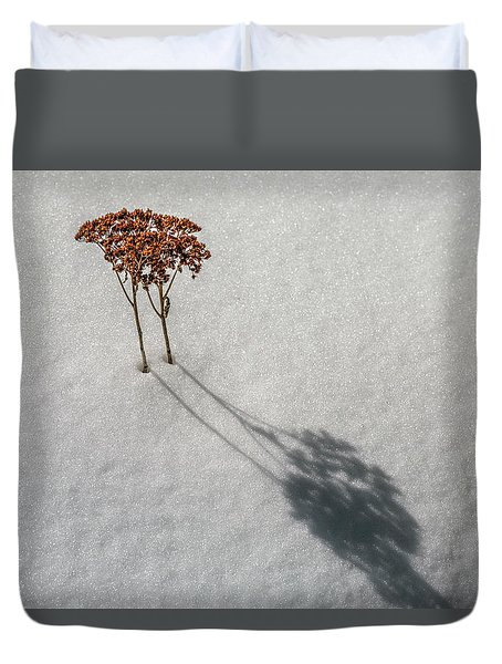 Long Shadow Of Winter Duvet Cover