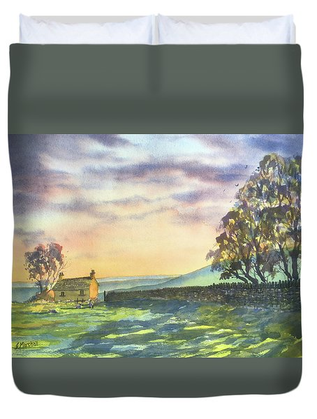 Long Shadows At Sunset Duvet Cover