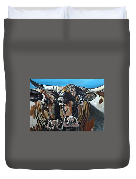 Longhorns, Interrupted Duvet Cover