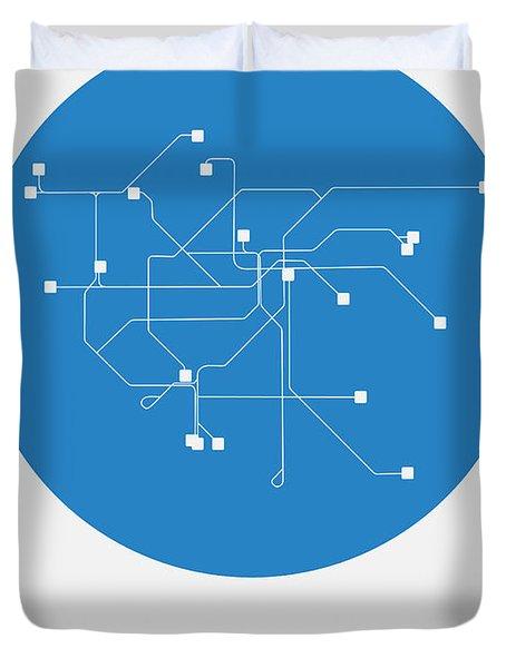 San Francisco Blue Subway Map Duvet Cover