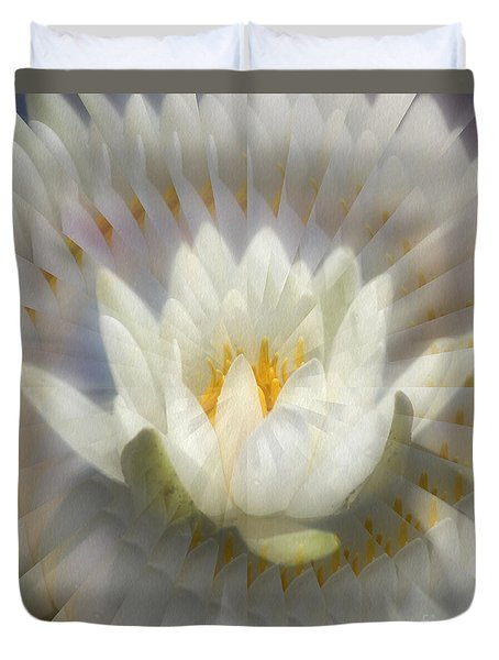 Lotus Blossom Illusion Duvet Cover