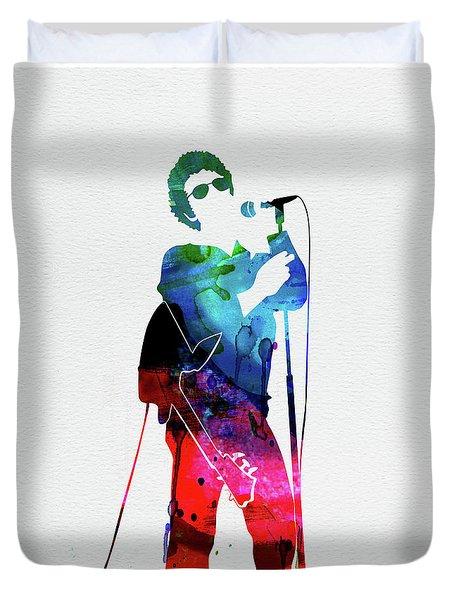 Lou Reed Watercolor Duvet Cover