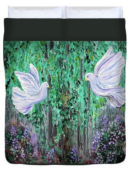Love Birds Duvet Cover