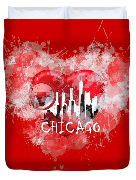 Love Chicago Colors Duvet Cover