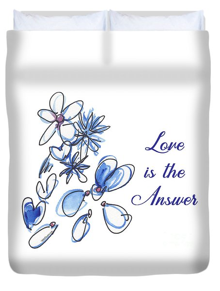 Love Is The Answer Duvet Cover