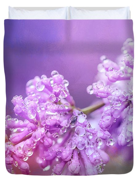 The Magic Of Lilacs In The Rain Duvet Cover