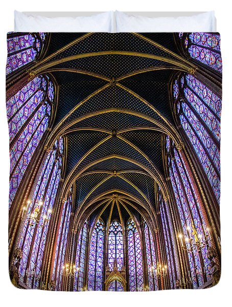 Low Angle View Of Sainte-chapelle Duvet Cover