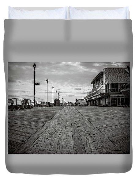 Low On The Boardwalk Duvet Cover